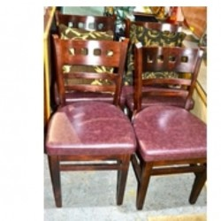 4 high quality oak dining chairs