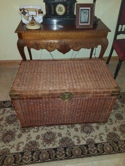 Large woven blacket  chest
