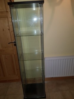 As new glass display cabinet  imaculate