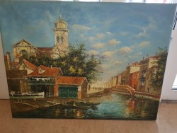 Large  canvas oil painting of Venice