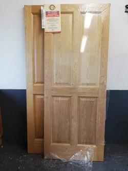 2 oak finish doors