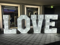 LED Love Letters for Wedding Hire