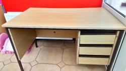 Beech coloured office desk