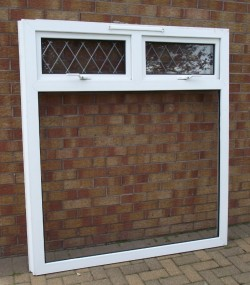 UPVC Window Frames, part glazed