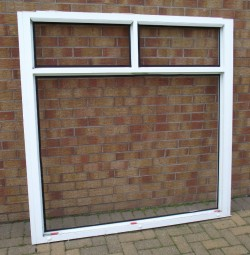 White UPVC window frames