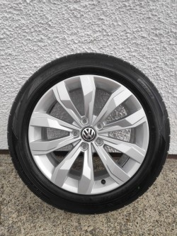 """Set of genuine VW 17"""" Cortez alloy wheels and tyres."""