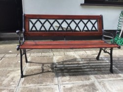 Garden bench seat .