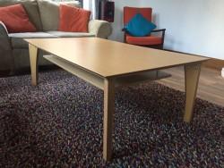 Beech veneer coffee table