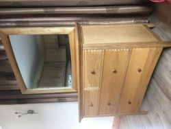 Chest of Drawers with removable mirror