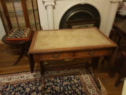 Antique  double  leafed writing  desk