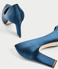 Zara: Teal Satin Sandals [Size: 38 EU]