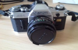Working Vintage Canon AE-1 Camera, Case + About 30 Lenses/accessories Etc
