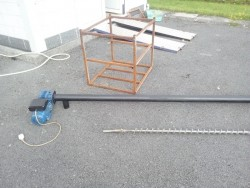 WOOD PELLET AUGER AND MOTOR