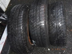 3 tyres  and rims
