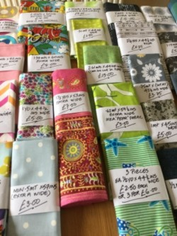 Fabrics, notions and trims. Perfect for sewing, patchwork or craft classes.