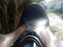 "17.5"" Barnaby and sons leather saddle"