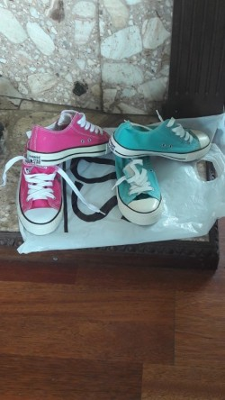 Converse All-star shoes and Sketchers