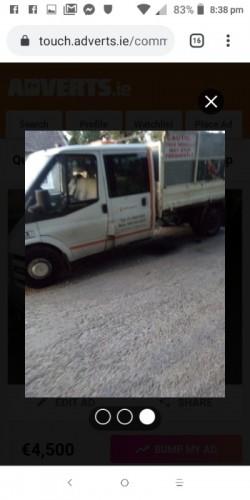 Ford transit pickup crew cab tipper
