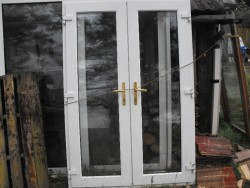 White PVC French Door for Sale