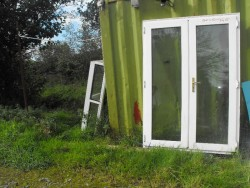 2 x White PVC French Doors for Sale