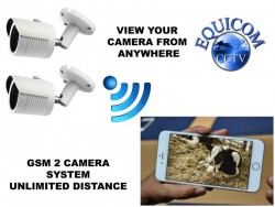 GSM Internet x2 Calving/Lambing Camera System - View on your Phone