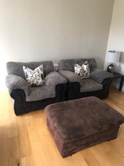 3 Piece Suite & Footstool