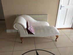 Beautiful cream fabric Chaise Long seat for sale
