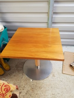As new light oak solid  heavy table