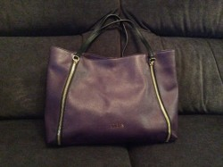 Beautiful Purple Guess Bobbi Tote Bag