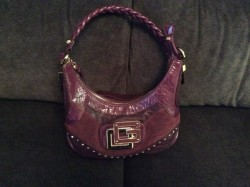 Beautiful Guess purple dressy Handbag
