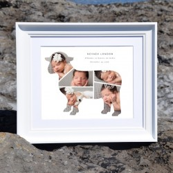 Personalise monthly baby photo frame online - Domore
