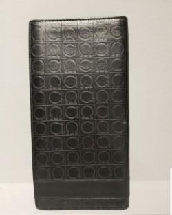 Salvatore Ferragamo 100% Leather Black Unisex Bifold Wallet