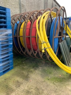 2 REELS OF PIPING FOR SALE