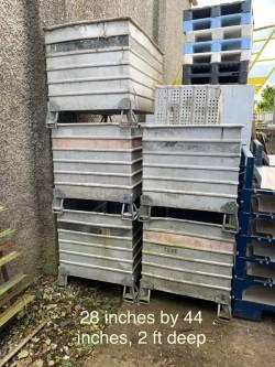Aluminium stacking bins for sale