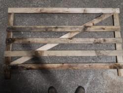 Timber sheep hurdles