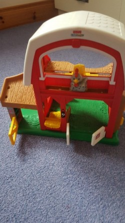 Fisher price little people farm shed