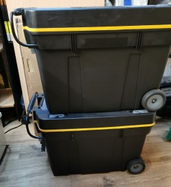 2 Toolboxes with Wheels
