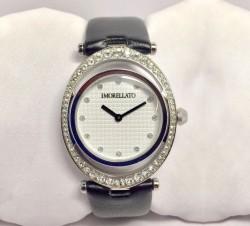 Heritage Women's Watch - Sparkling Silver On Black Satin