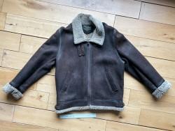 Original Vintage 80's Sheepskin and Leather Jacket