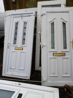 2 White PVC Doors for Sale