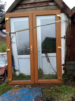 Oak PVC French Door for Sale