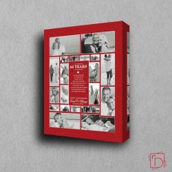 Order Personalised Picture Collage for 50th Gold Wedding Anniversary - Domore