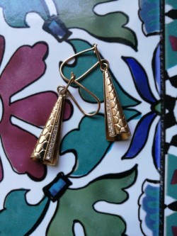 Gold earring14 carat New
