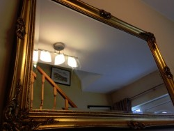 Antique style gold gilded mirror