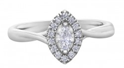 Marquise Cut Solitaire .20ct