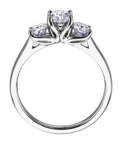 Three Stone 1.25ct Engagement Ring