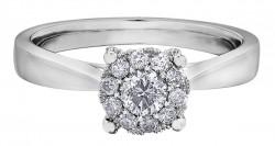 Round Starburst .50ct Engagement ring