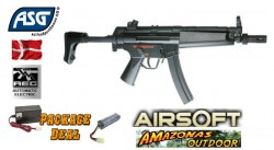 ASG MP5A5 Sportline Airsoft Assault Rifle Combo