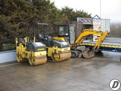 Bomag Ride On Rollers - Inver Tool Hire, Donegal