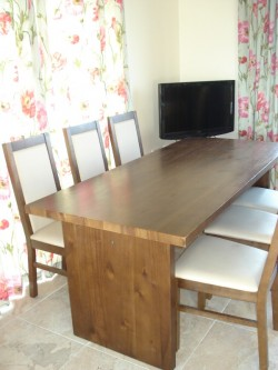 mahogony table and 6 padded chairs for sale for sale